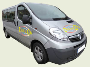 Dial-a-Cab Rugby taxi Ford Torneo